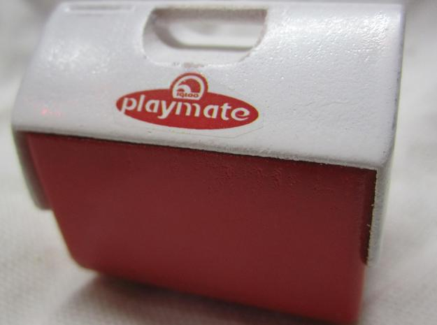 1:10 Scale Playmate Cooler in White Natural Versatile Plastic