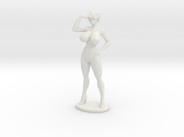 Aimsee Standing 4'' Versatile Plastic in White Natural Versatile Plastic