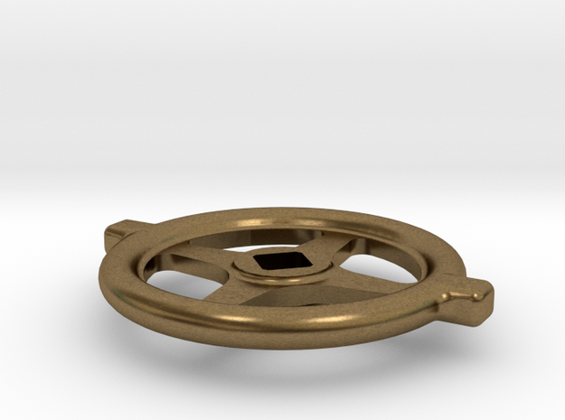 "1.1"" scale South African Large Valve Handwheel in Natural Bronze"