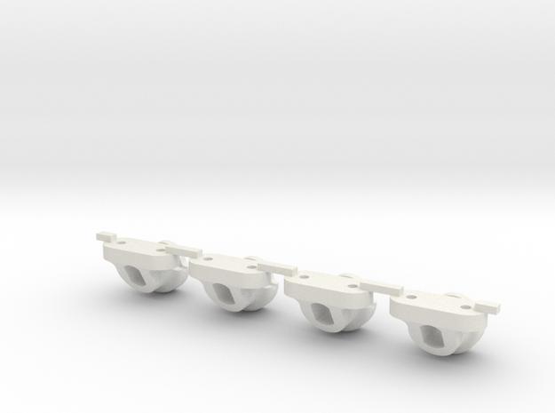 JaBird RC Body Mount - SCX10 Style in White Natural Versatile Plastic