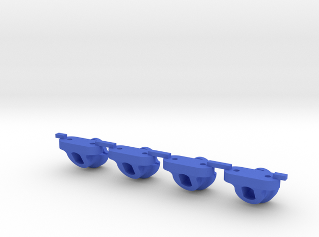 Axial Style Body Mount for LCG Chassis like JaBird in Blue Strong & Flexible Polished