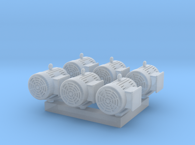 1/64 7.5 Horsepower Electric Motor in Smooth Fine Detail Plastic