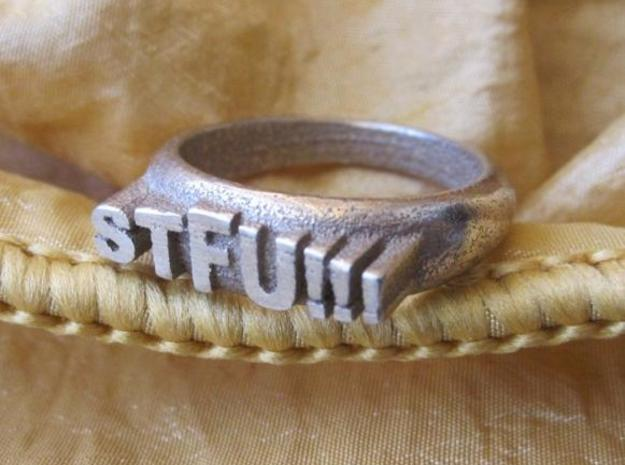 STFU!!! Ring in Stainless Steel