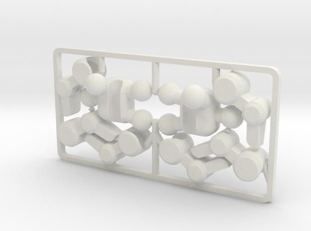 Poseable Mecha Hands for ModiBot in White Natural Versatile Plastic
