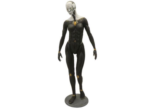 Female form robotic anatomy 20cm in White Natural Versatile Plastic