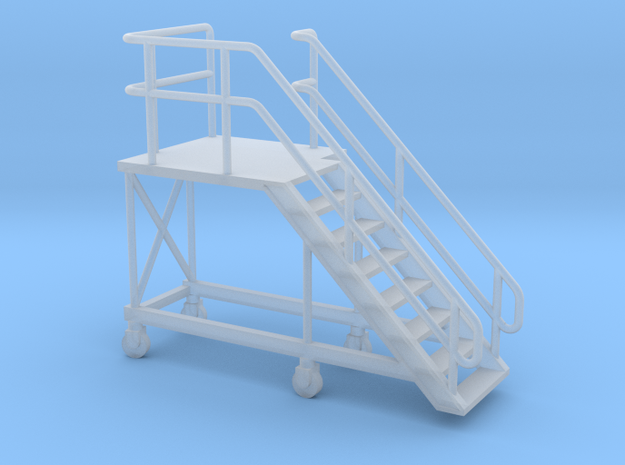 1:72 Train Access Stairs Stairs Right in Smooth Fine Detail Plastic