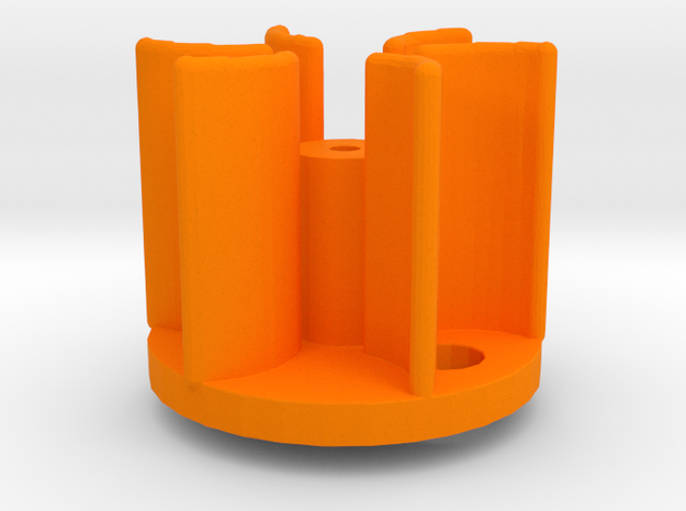 Smoke Unit Impeller Replacement for Lionel®  in Orange Processed Versatile Plastic