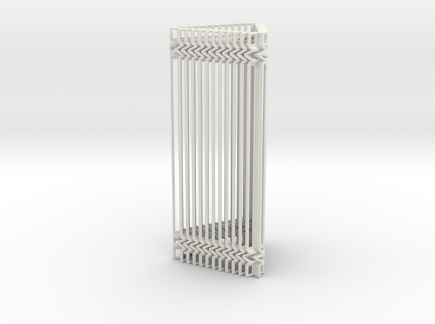 Triangular Accordion Column Openwork Design