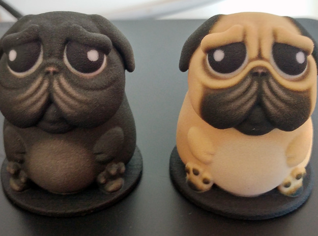DoggyPop Pug Fawn in Full Color Sandstone