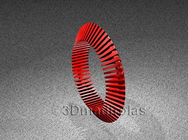 Floors Bracelet 03 in Red Processed Versatile Plastic