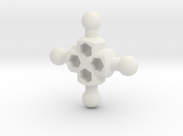 Crux Hub for ModiBot in White Strong & Flexible