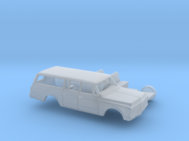 1/87 1967-72 GMC Suburban Split Rear Door Kit in Smooth Fine Detail Plastic