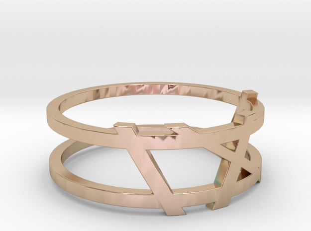 Date Ring in 14k Rose Gold Plated Brass: Medium