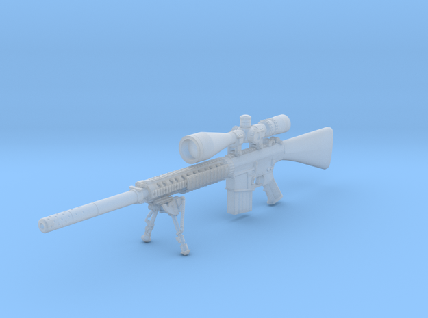 1/16th K11 with bipod suppressor and hunter scope in Smooth Fine Detail Plastic