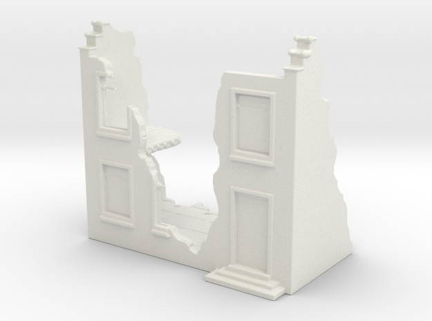 Home Ruin in White Natural Versatile Plastic