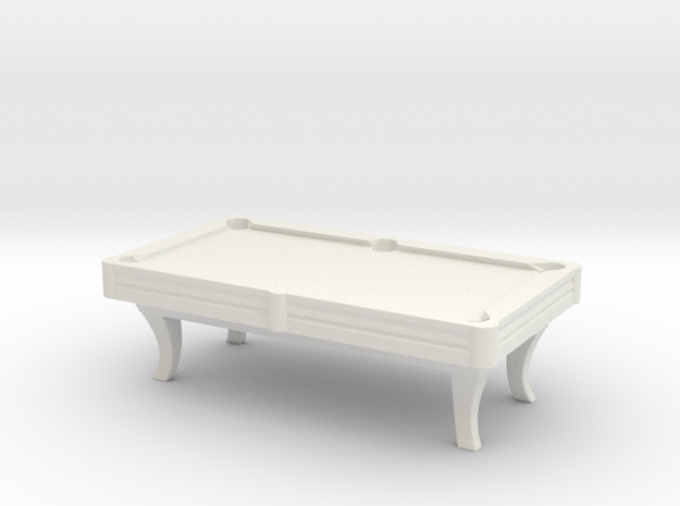 Pool Table 01. HO Scale (1:87)
