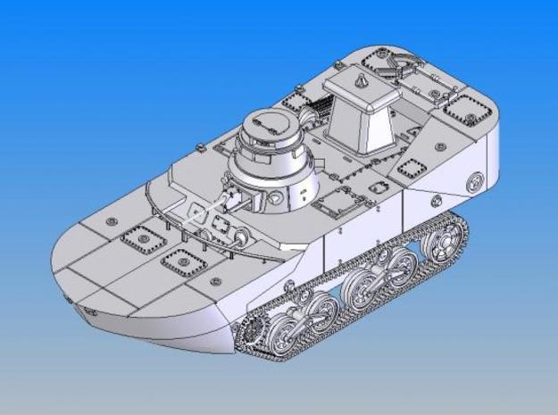 1/144 IJN Type2 Amphibious tank(late type) in Smooth Fine Detail Plastic