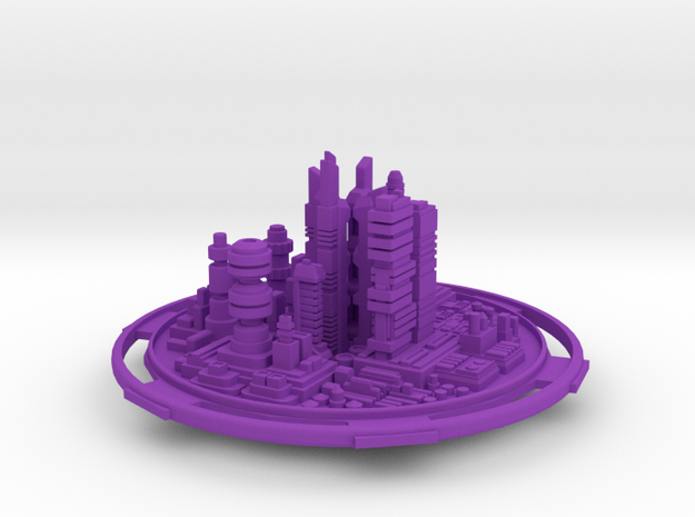 City in Purple Strong & Flexible Polished