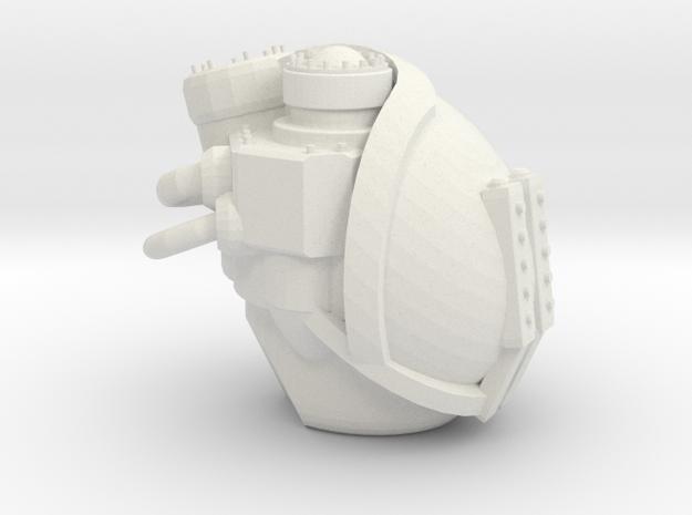 Imperial Knight Cerastus head  in White Natural Versatile Plastic