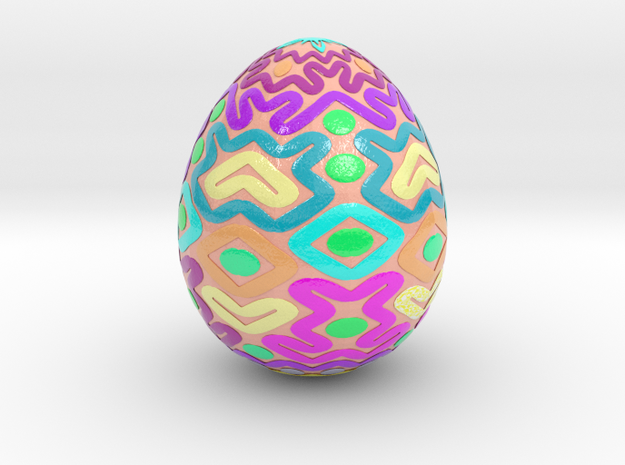 egg2 in Glossy Full Color Sandstone