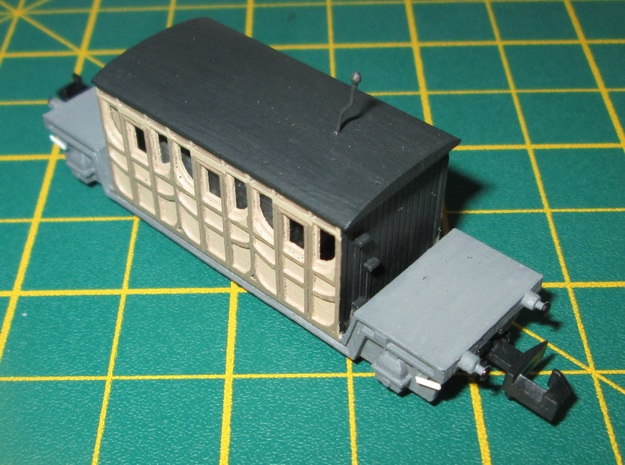 N Gauge Titfield Thunderbolt Dan's Coach in Smoothest Fine Detail Plastic