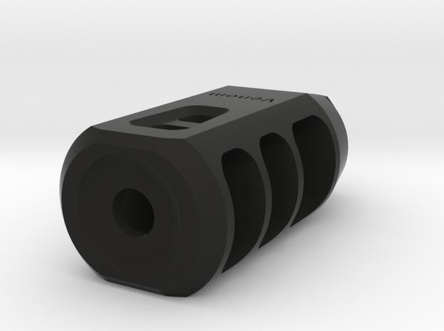 Venom Airsoft Muzzle Brake (14mm-) in Black Natural Versatile Plastic