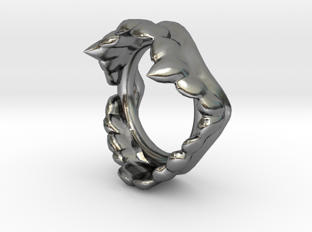 VAMPIRETEETH ring in Polished Silver: 10 / 61.5