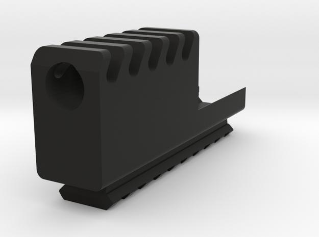 Frame Mount Compensator with Bottom Rail G17 G18 in Black Natural Versatile Plastic