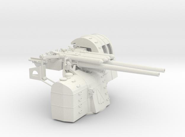 1/48 IJN Type 89 127mm Twin Mount in White Natural Versatile Plastic