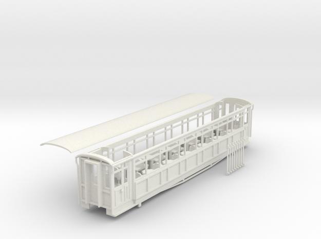 Ffestiniog Rly Superbarn all 3rd coach NO.108/121 in White Natural Versatile Plastic