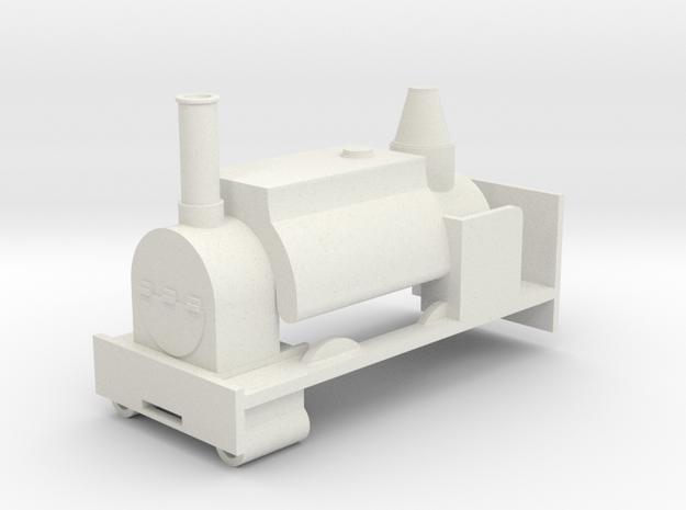 O-16.5 Neilson Saddle tank in White Natural Versatile Plastic