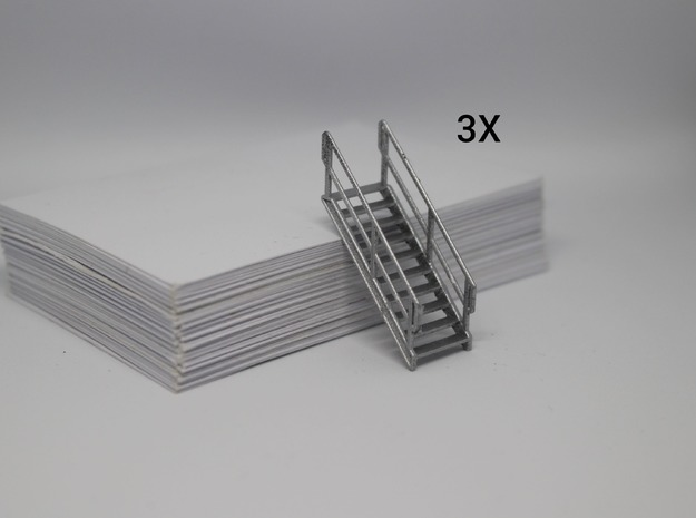 HO 3x Stairs #10 in Smooth Fine Detail Plastic