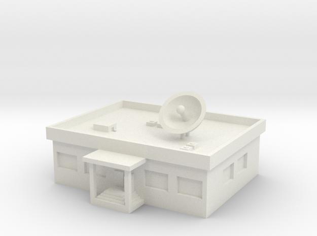 1/500 TV Station in White Natural Versatile Plastic
