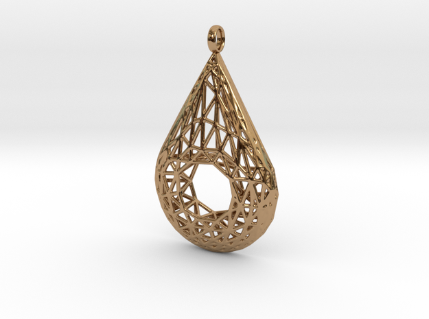 Drop Pendant 3 in Polished Brass