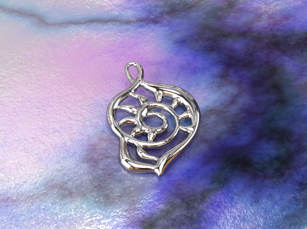 Pharaoh's shell in Polished Silver
