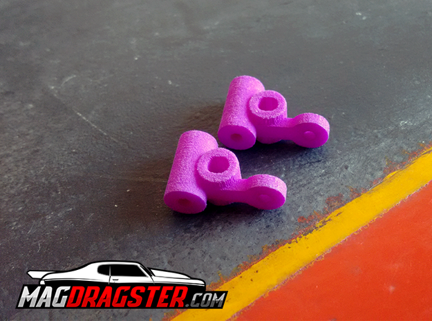 MagDragster Knuckles [Golf Mk1 Chassis] in Blue Processed Versatile Plastic