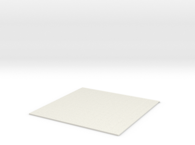 1/61 Basket weave tile in White Natural Versatile Plastic