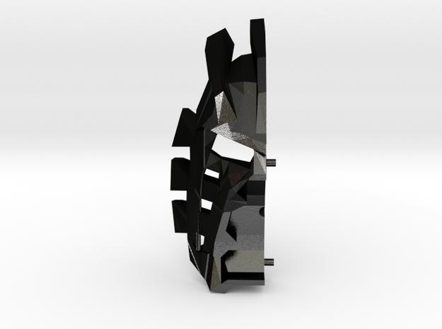 Mask Of Light Two Parts - Left in Matte Black Steel