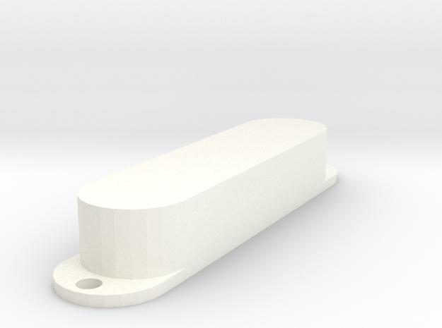 Strat PU Cover, Single, Closed in White Processed Versatile Plastic
