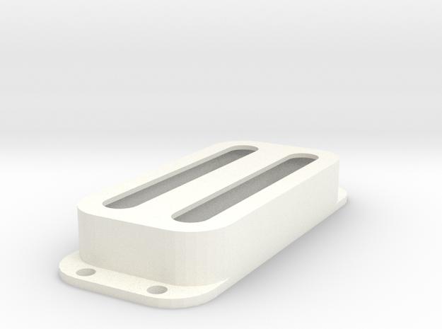 Strat PU Cover, Double, Open in White Processed Versatile Plastic