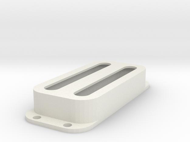 Strat PU Cover, Double, Open in White Premium Versatile Plastic