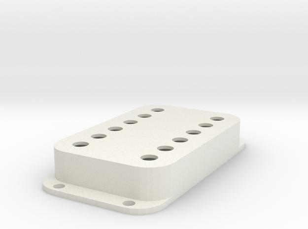 Strat PU Cover, Double Wide, Classic in White Premium Versatile Plastic