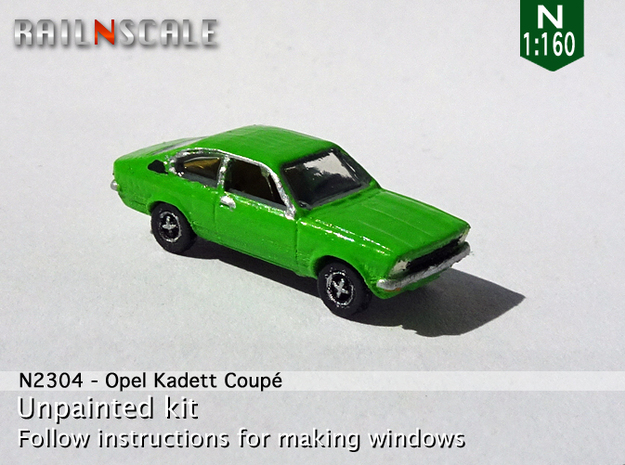 Opel Kadett Coupé (N 1:160) in Smooth Fine Detail Plastic