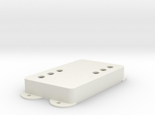 Jag PU Cover, Pickguard, Double, Angled, WR in White Premium Versatile Plastic