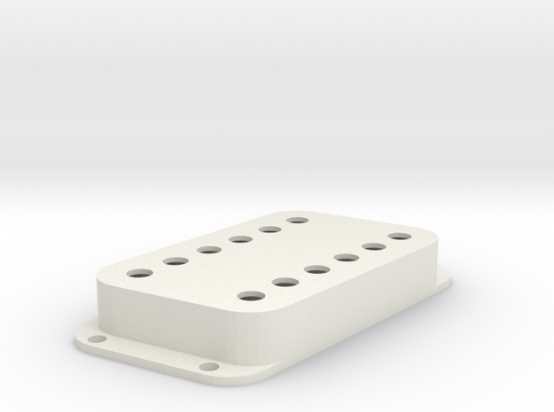 Strat PU Cover, Double Wide, Angled, Classic in White Premium Versatile Plastic