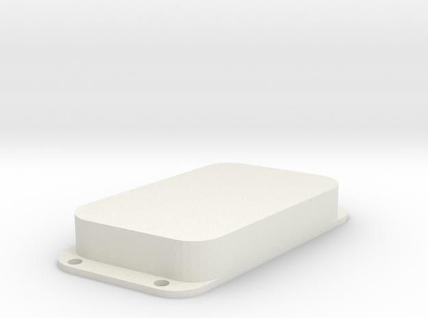 Strat PU Cover, Double Wide, Angled, Closed in White Premium Versatile Plastic