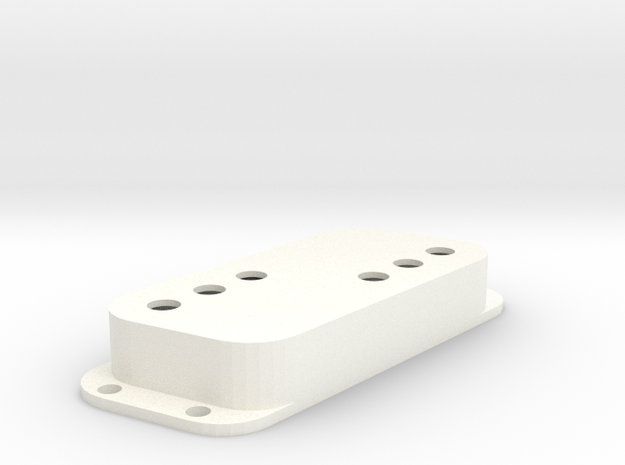 Strat PU Cover, Double, Angled, WR in White Processed Versatile Plastic