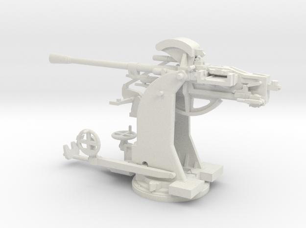 1/48 Breda 37mm 54 caliber Single mount Army AA  in White Natural Versatile Plastic