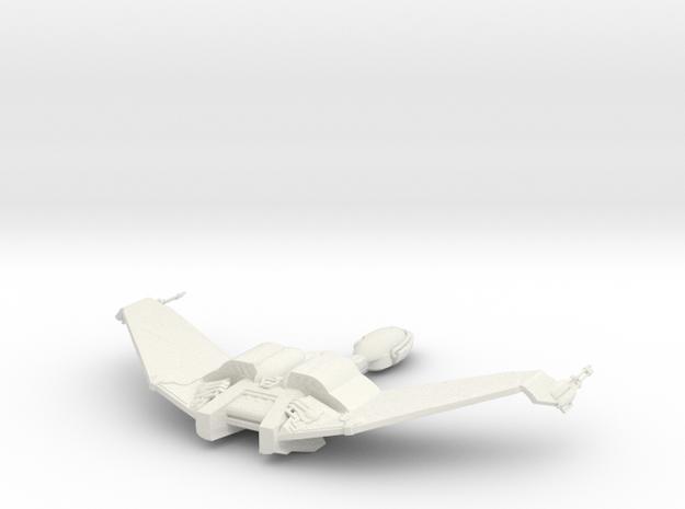 Klingon Bird of Prey 1:1000 Wings up in White Natural Versatile Plastic