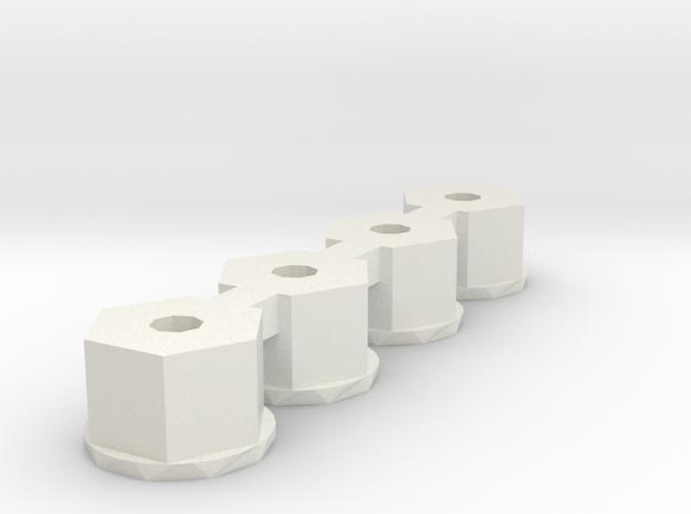 losi 4-40 nylon nut  in White Natural Versatile Plastic